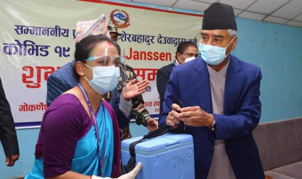 Prime Minister Deuba Inspects Vaccination Centers In Capital