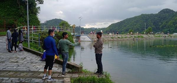 Visitors In Begnas Lake After Prohibitory Order Relaxation