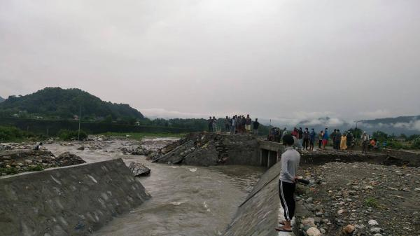 Water From Airport Construction Site Enters Settlement In Pokhara
